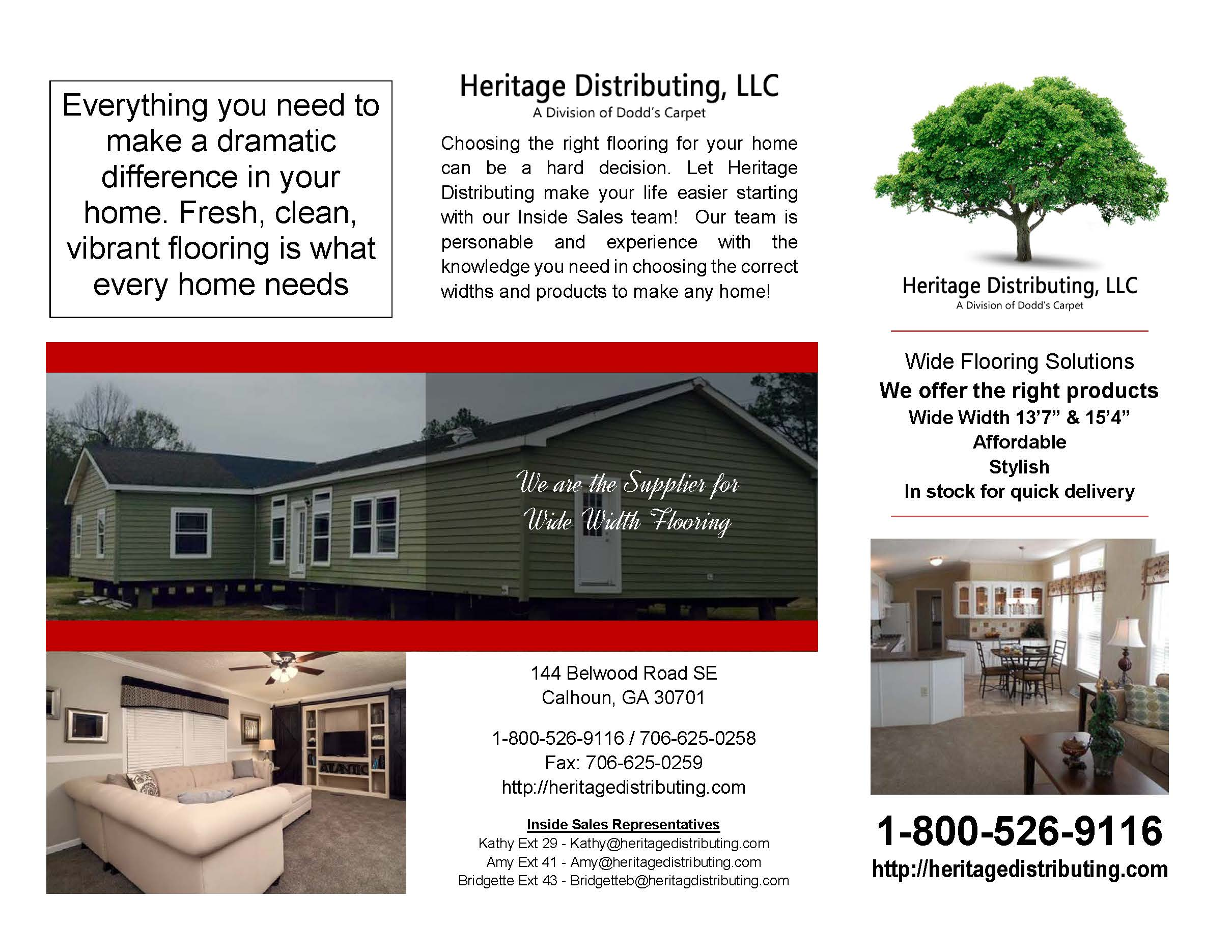 Heritage Distributing Brochure