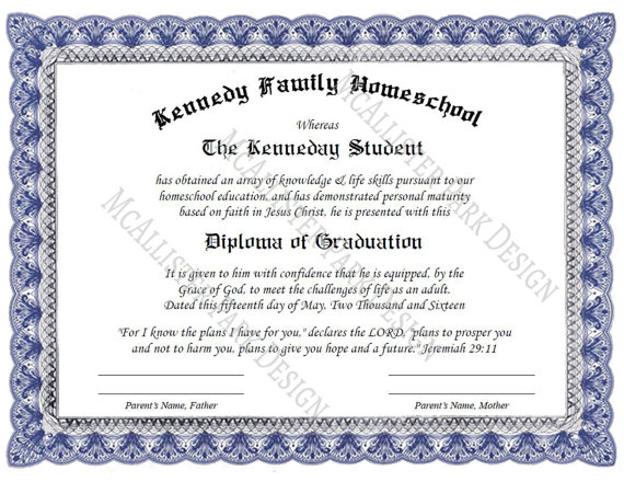 Custom Homeschool Diploma