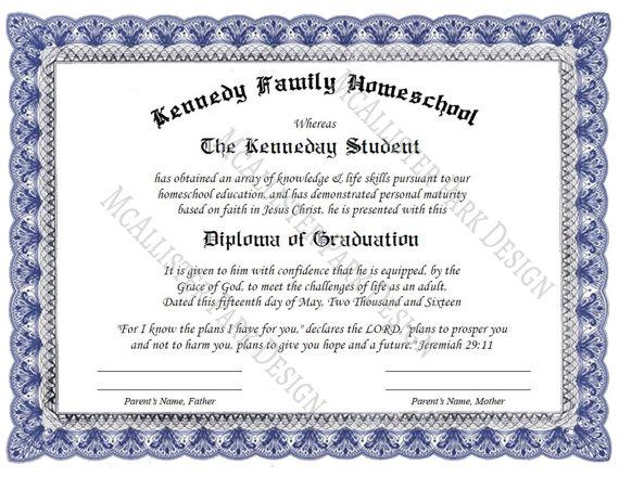 Custom Homeschool Diploma