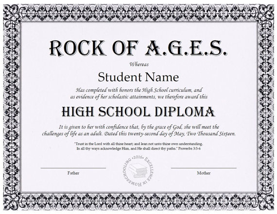 Homeschool Diploma Custom